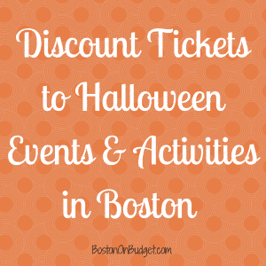 Boston Halloween Events Discounts