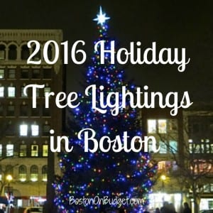 Boston Tree Lightings Christmas 2016