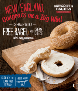 brueggers bagels super bowl offer