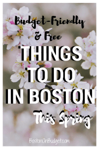 Events in Boston This Spring