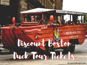 Discount Boston Duck Boat Tickets