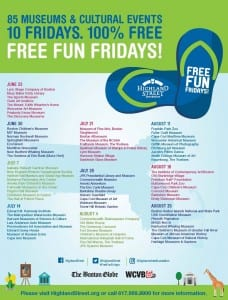 Highland Street Foundation Free Fun Fridays 2017 Schedule