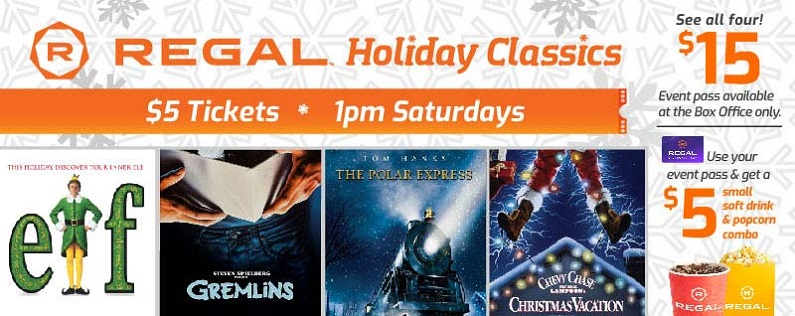 $5 Holiday Movies at Regal Cinemas This Holiday Season