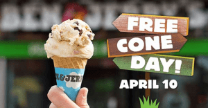 Ben & Jerry's Free Ice Cream 2018