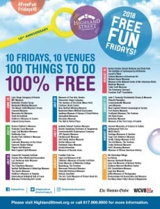 Highland Street Foundation Free Fun Fridays in MA