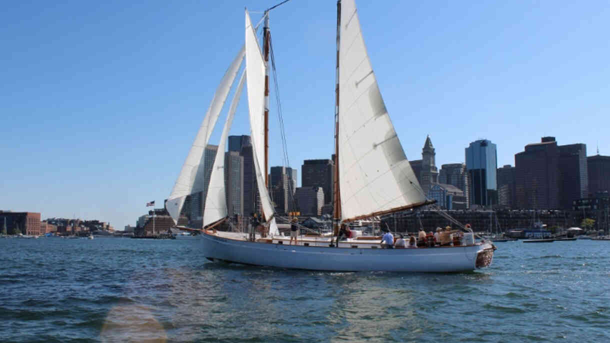 Sailing on Boston Harbor on the Schooner Adirondack III