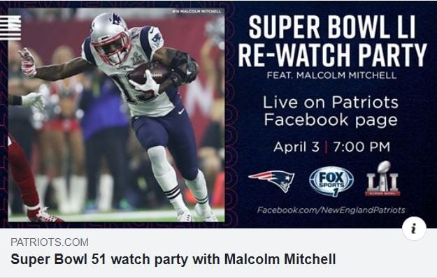 Get Social with the Super Bowl 51 Re-Watch Party for Patriots Fans